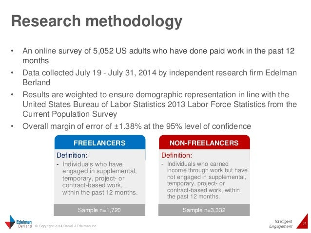 Research methodology  • An online survey of 5,052 US adults who have done paid work in the past 12  Intelligent  2 © Copyr...
