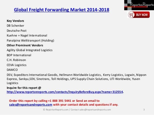 global freight forwarding market 2014 2018