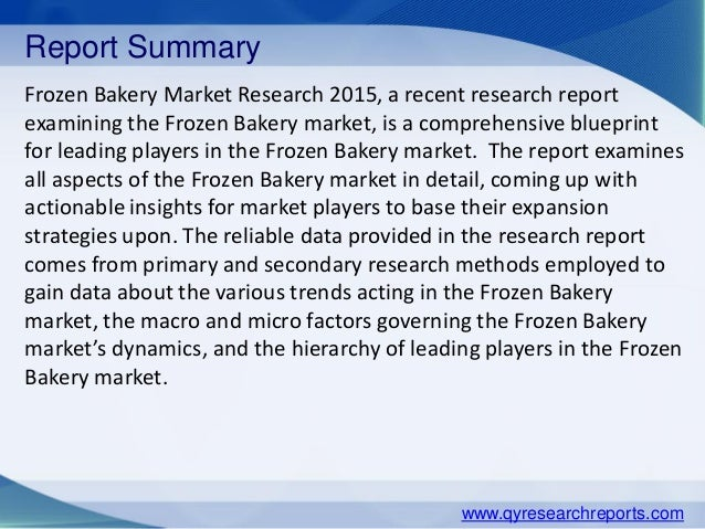 bakery industry overview