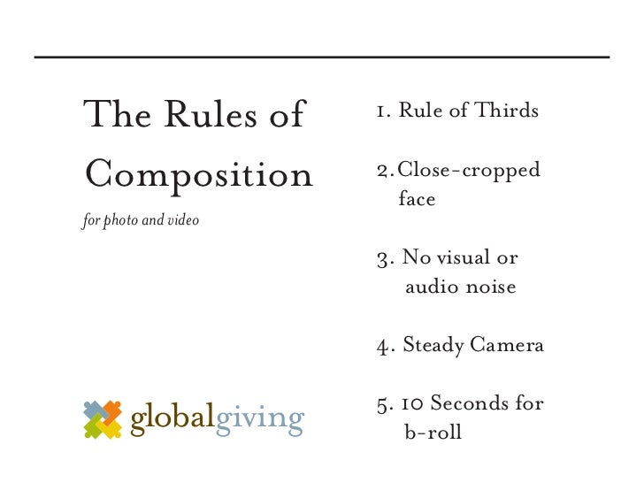 The Rules of          1. Rule of Thirds  Composition           2.Close-cropped                         face for photo and ...