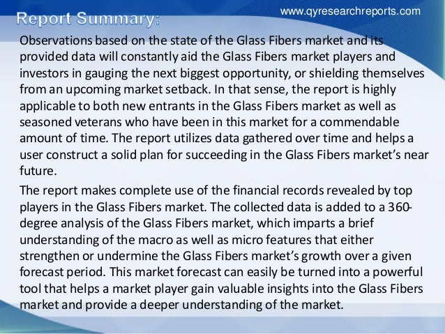 Global glass fibers market growth, research, trends, analysis and industry outlook 2016 Slide 3
