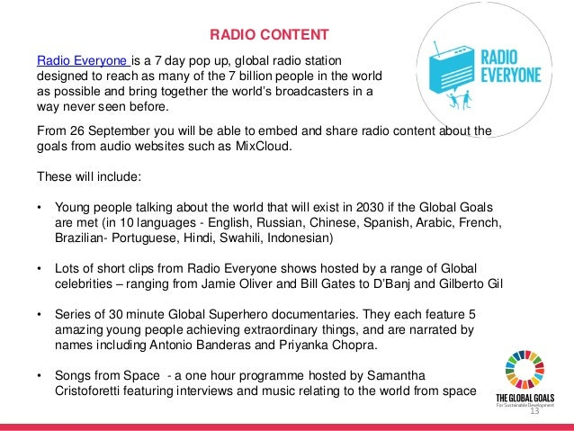 From 26 September you will be able to embed and share radio content about the goals from audio websites such as MixCloud. ...