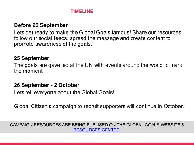 Before 25 September Lets get ready to make the Global Goals famous! Share our resources, follow our social feeds, spread t...