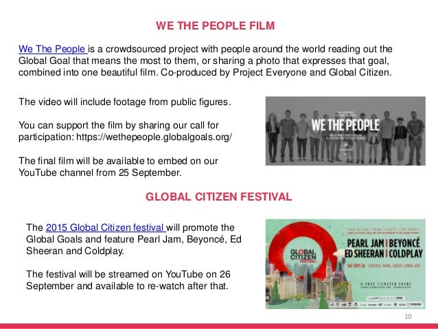 10 WE THE PEOPLE FILM The video will include footage from public figures. You can support the film by sharing our call for...