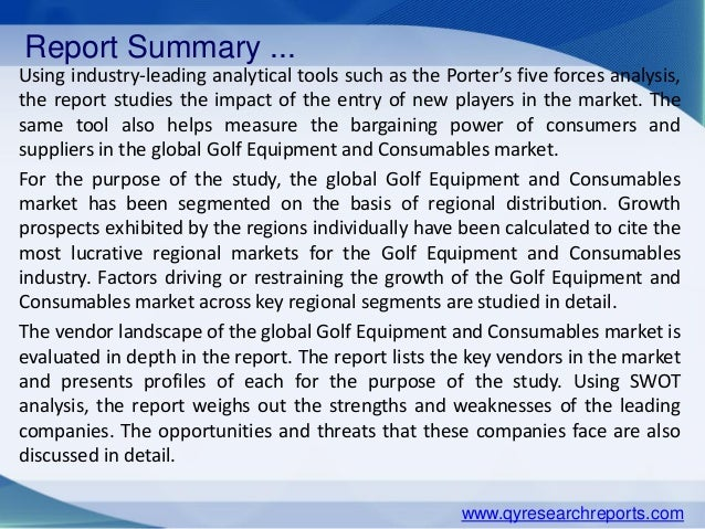 Golf Equipment Market: Industry Perspective, Comprehensive Analysis and Forecast, 2015 – 2021