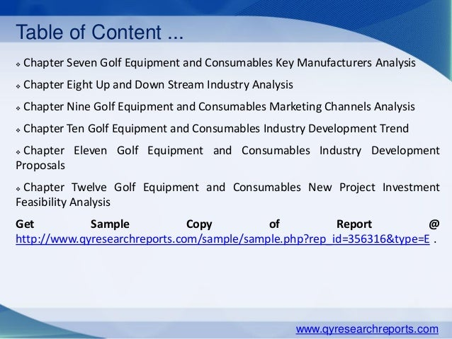 golf industry analysis Unique reports on the golf industry golf industry overview golfsat golf market analysis ngf's golf industry overview provides a summary snapshot of.