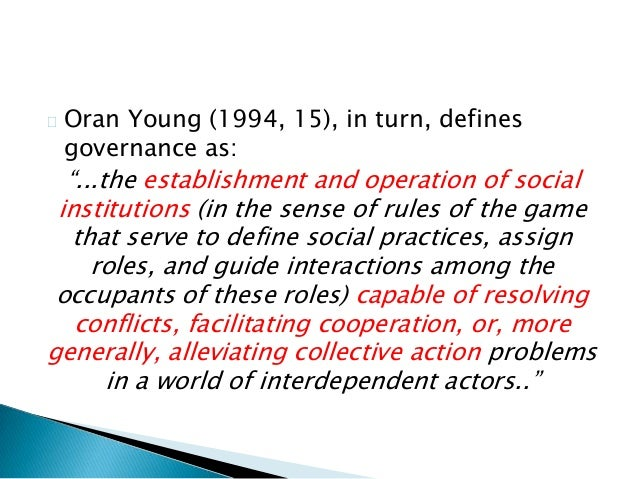 the concept of global governance Undp human development report office occasional paper 2013/09 1 transforming global governance for the 21st century ngaire woods, alexander betts, jochen prantl and devi sridhar.