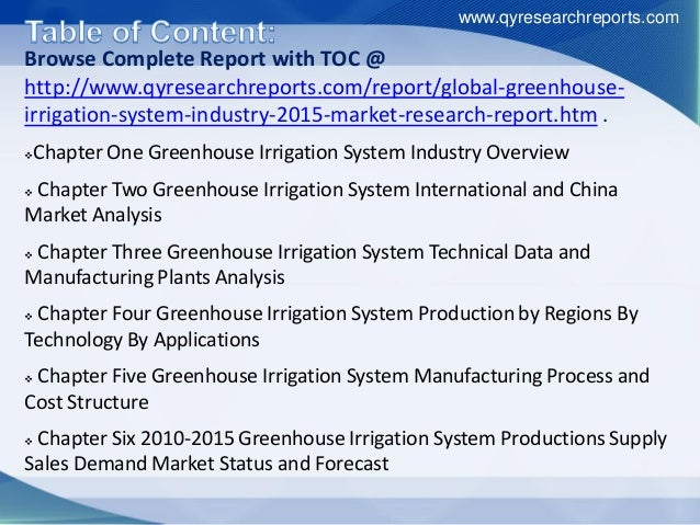 global greenhouse irrigation system market growth, analysis, share, r…