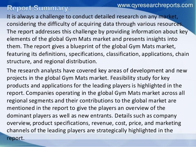 Global gym mats industry 2016 market growth, analysis, research, trends, development and forecast Slide 2
