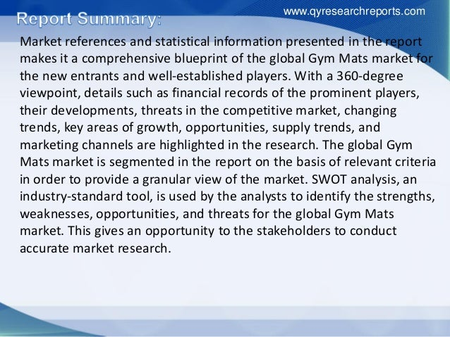 Global gym mats industry 2016 market growth, analysis, research, trends, development and forecast Slide 3