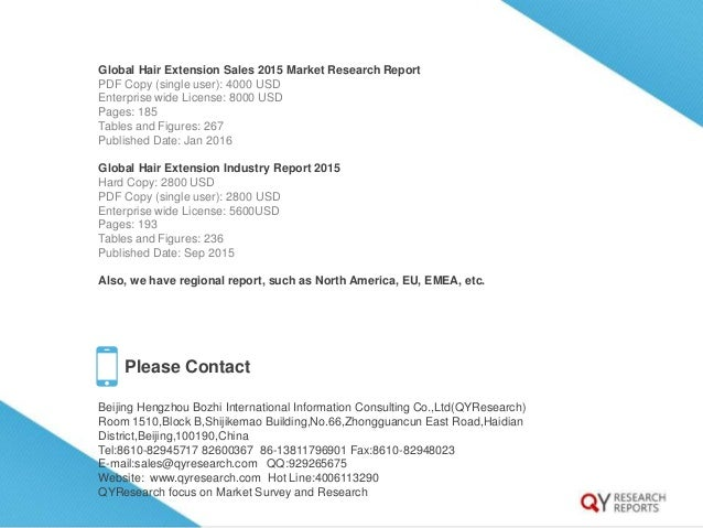 Global hair extension industry 2015 market research report recomendation 4 12 global hair extension sales 2015 market research report pdf copy pmusecretfo Gallery