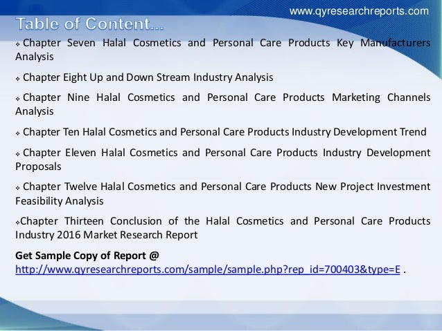 Halal cosmetics and personal care market