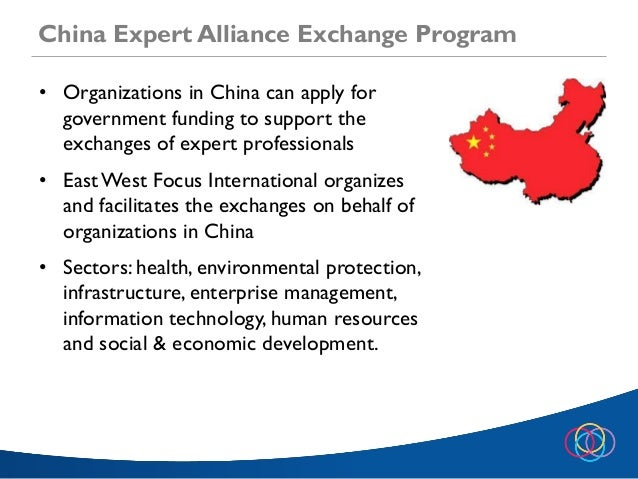 China Expert Alliance Exchange Information Session