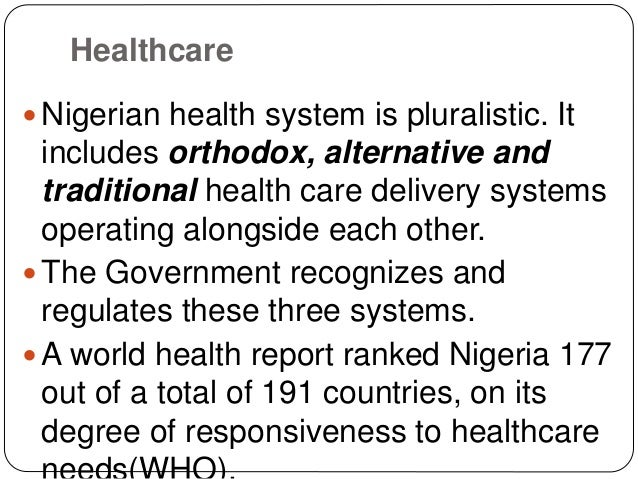 The healthcare system in nigeria