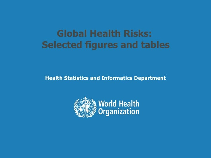 Global Health Risks:  Selected figures and tables Health Statistics and Informatics Department