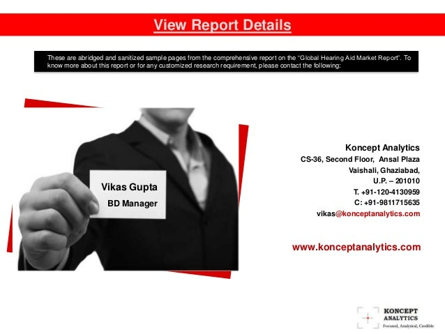 """View Report Details Contact Us: These are abridged and sanitized sample pages from the comprehensive report on the """"Global..."""