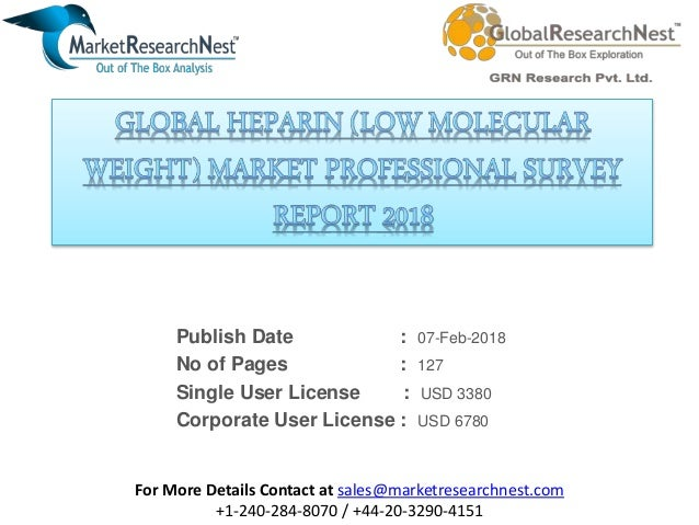 Global heparin (low molecular weight) market professional survey repo…