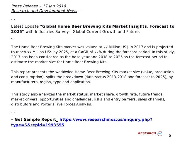 Excellent Growth of Global Home Beer Brewing Kits Market