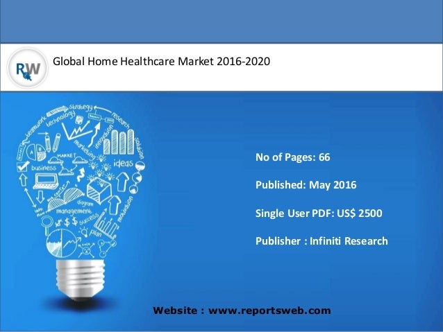 Global Home Healthcare Market 2016-2020 Website : www.reportsweb.com No of Pages: 66 Published: May 2016 Single User PDF: ...