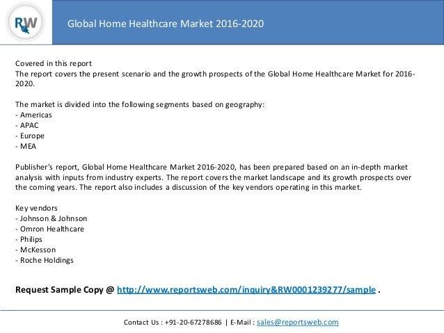 Worldwide Home Healthcare Market 2016 Study Slide 3