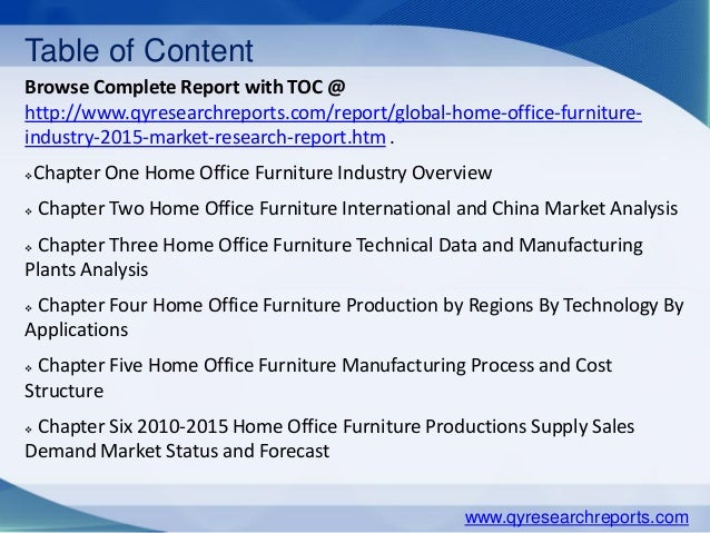 Global Home Office Furniture Market 2015 Industry Analysis Research