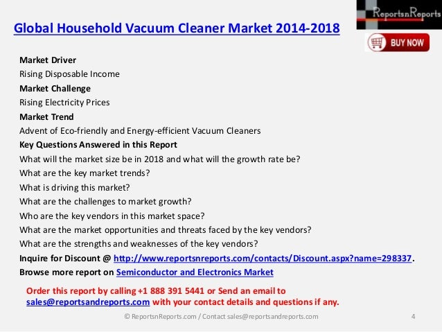 Global Household Vacuum Cleaner Market Landscape Amp Growth