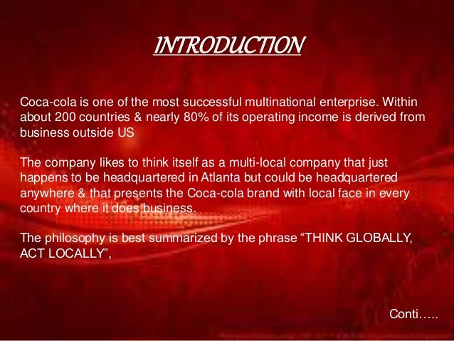 management of financial resources in coca cola How management functions are performed at coca cola the top management at coca-cola also engages in tactical planning in and human resources.