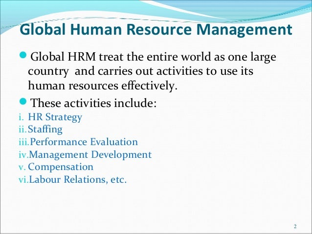 Global Mba: Global Hrm Mba Notes
