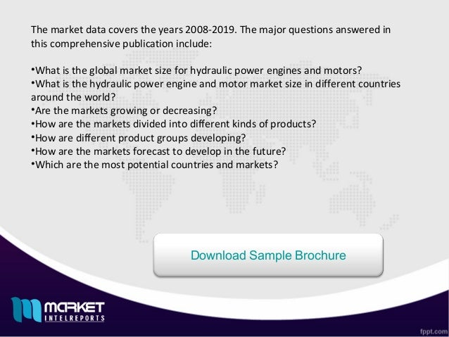 Global Hydraulic Power Engine Motor Market Forecast Future Industry - World most powerful countries in future