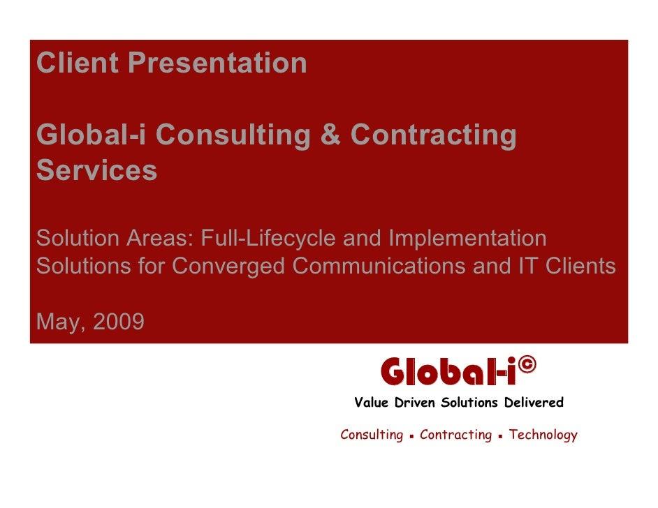 Global-i Client Presentation