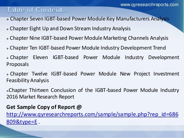 global igbt based power module market The market for igbt-based intelligent power modules is expected to grow at the highest rate during the forecast period igbt-based ipms combine the advantages of the low-loss high-speed igbts with protection and optimized gate drive circuitries.