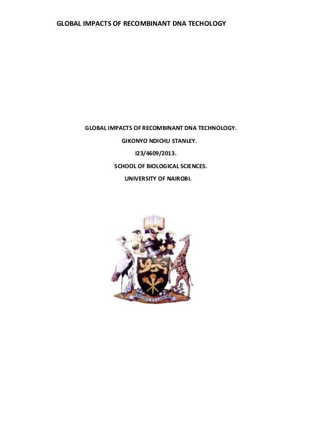 applications of recombinant dna technology in environment pdf