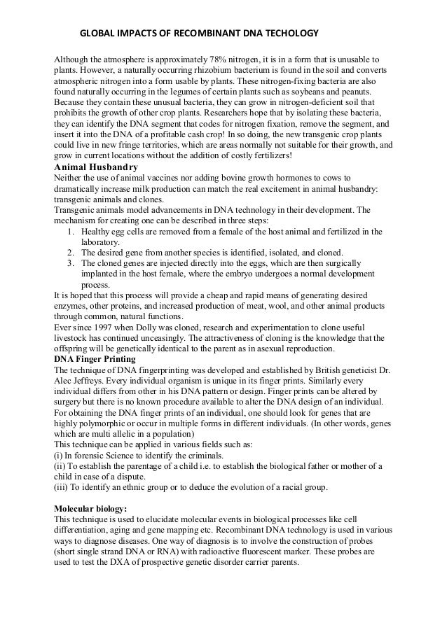 dna research paper pdf