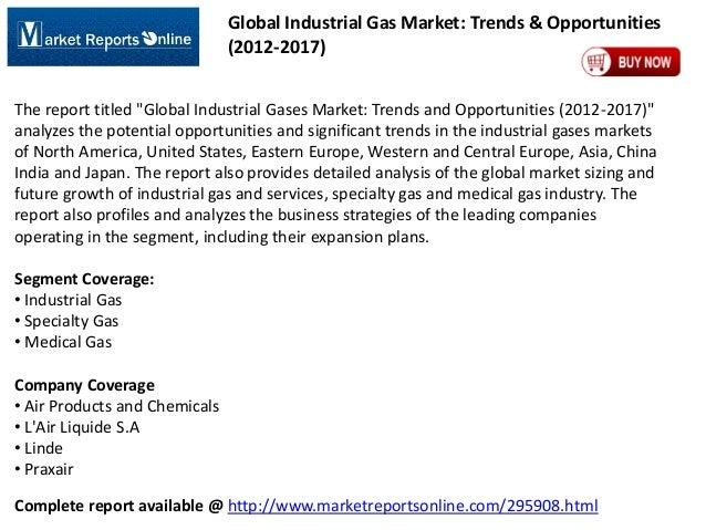 "Global Industrial Gas Market: Trends & Opportunities (2012-2017) The report titled ""Global Industrial Gases Market: Trends..."