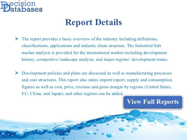 Worldwide Industrial Salt Industry Analysis and Revenue