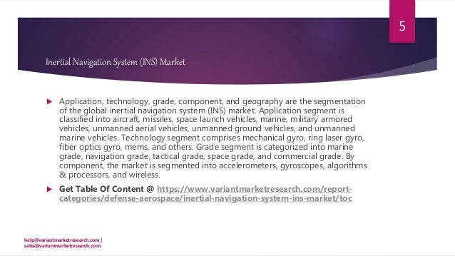 Global inertial navigation system (ins) market