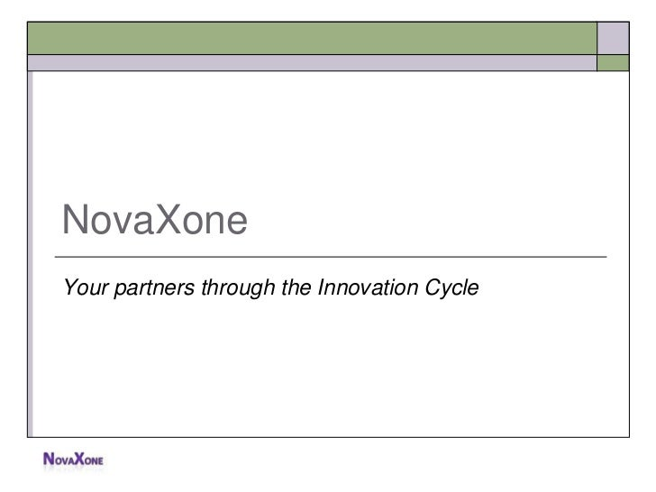 NovaXoneYour partners through the Innovation Cycle