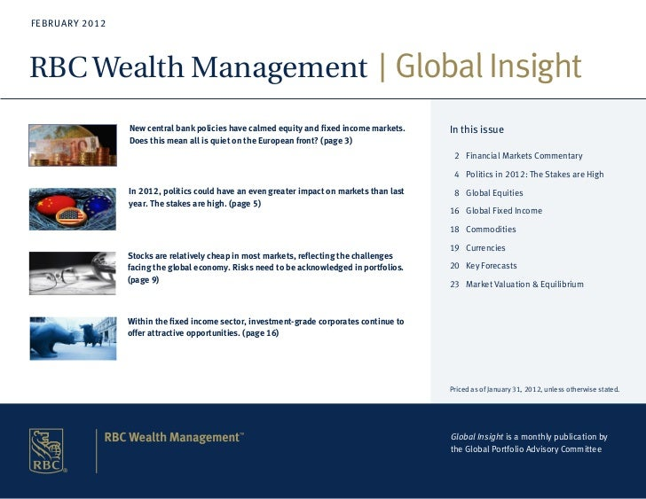 FEBRUARY 2012RBC Wealth Management Global Insight                New central bank policies have calmed equity and fixed in...