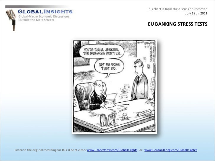 This chart is from the discussion recordedJuly 18th, 2011<br />EU BANKING STRESS TESTS<br />Listen to the original recordi...