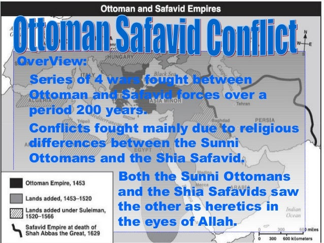 The similarities and differences between the ottomans and safavids