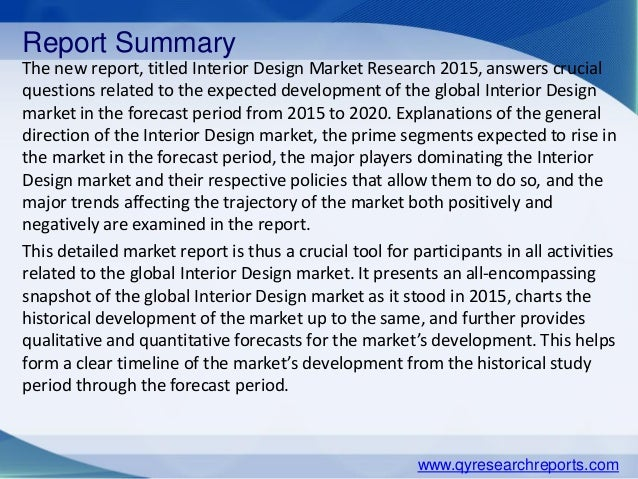2 Report Summary The New Titled Interior Design Market