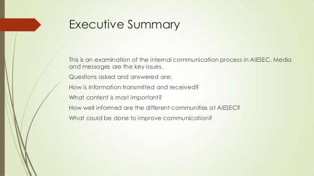 global internal communications audit report