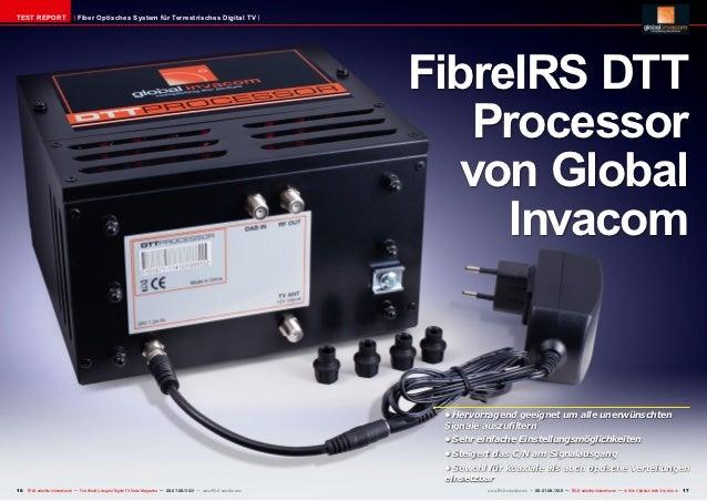 TEST REPORT                     Fiber Optisches System für Terrestrisches Digital TV                                      ...