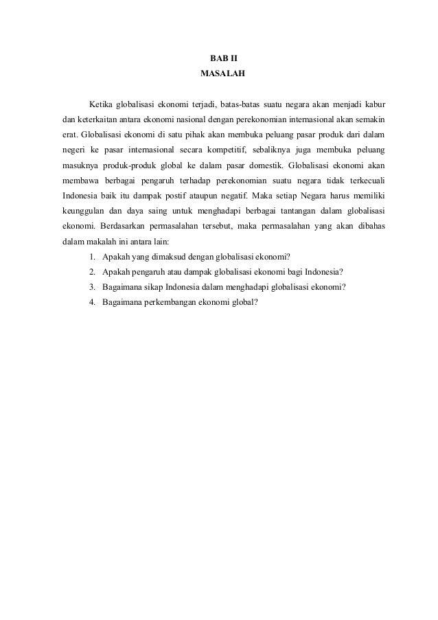 Globalisasi Ekonomi Dan Perkembangan Ekonomi Global