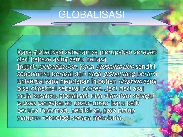 Globalisasi Pengertian