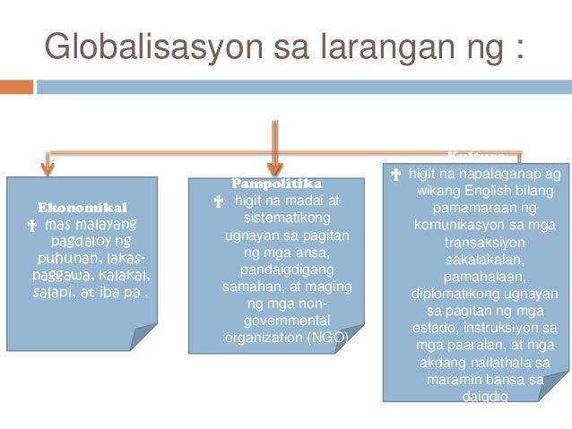 epekto ng globalisasyon Ang pag taas ng quality of education at technology.