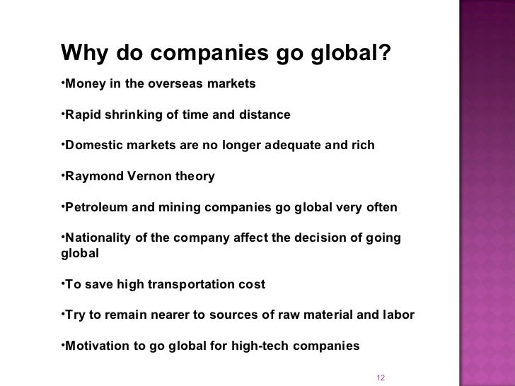 how does a company go global