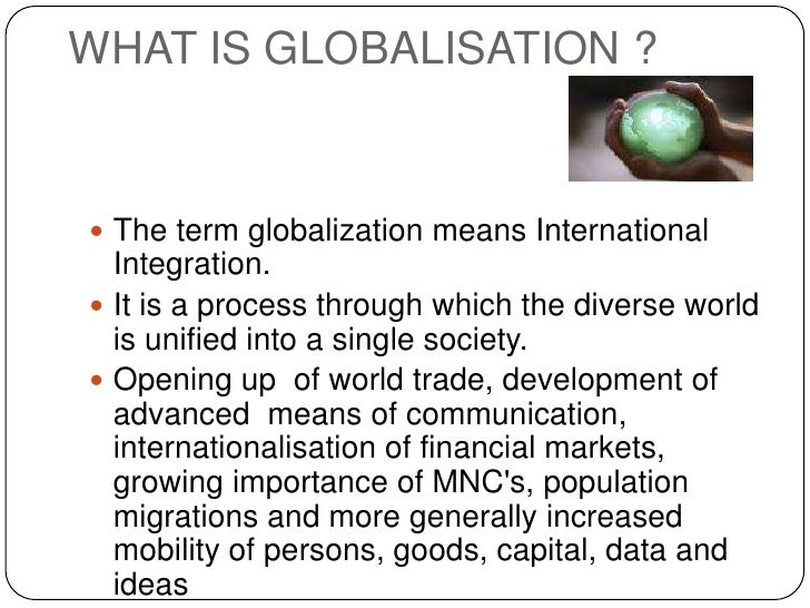 An analysis of globalisation