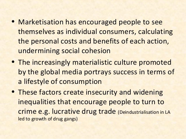 • Marketisation has encouraged people to see  themselves as individual consumers, calculating  the personal costs and bene...