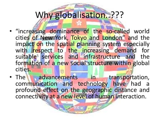 impact in transportation technology in globalisation As paul krugman rightly says, globalisation was a technological  a  seemingly small decline in transport costs could have a large effect on.